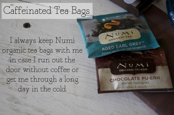 Caffienated tea bags